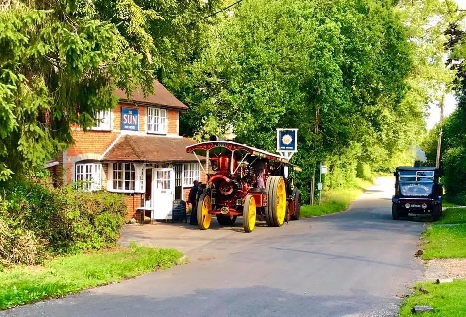 The Sun Inn Pub Hill Bottom Whitchurch Hill Steam event