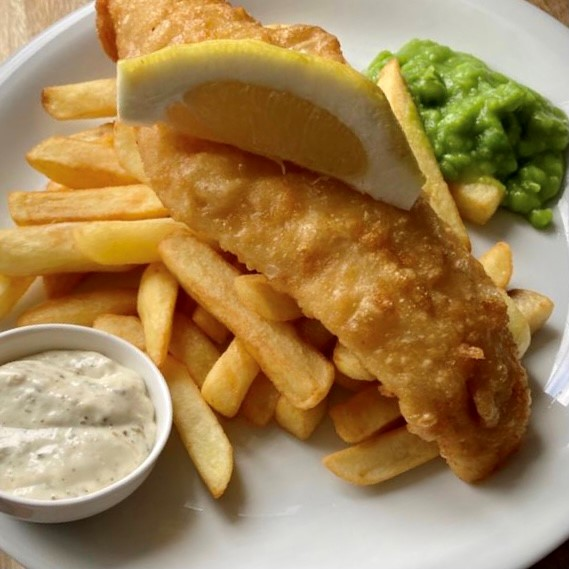 Fish & Chips at The Sun Whitchurch Hill